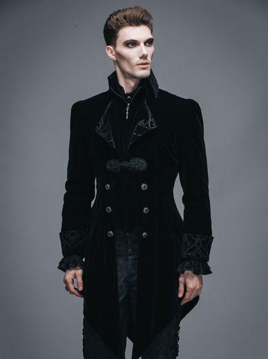 veste gothique noire en queue de pie pour homme devil fashion. Black Bedroom Furniture Sets. Home Design Ideas