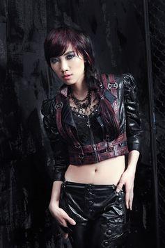 Veste steampunk femme noire et rouge rq bl sp053 - Steampunk style vestimentaire ...
