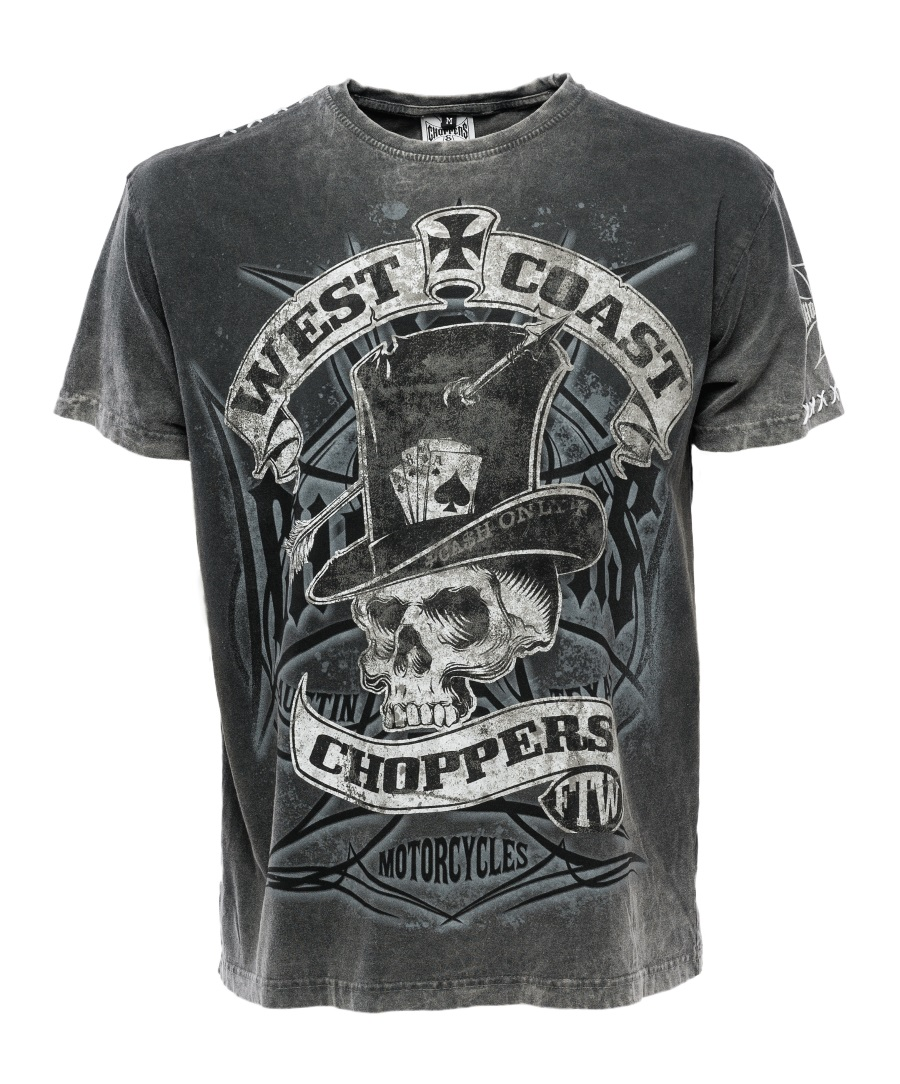 t shirt west coast choppers homme gris anthracite vintage. Black Bedroom Furniture Sets. Home Design Ideas