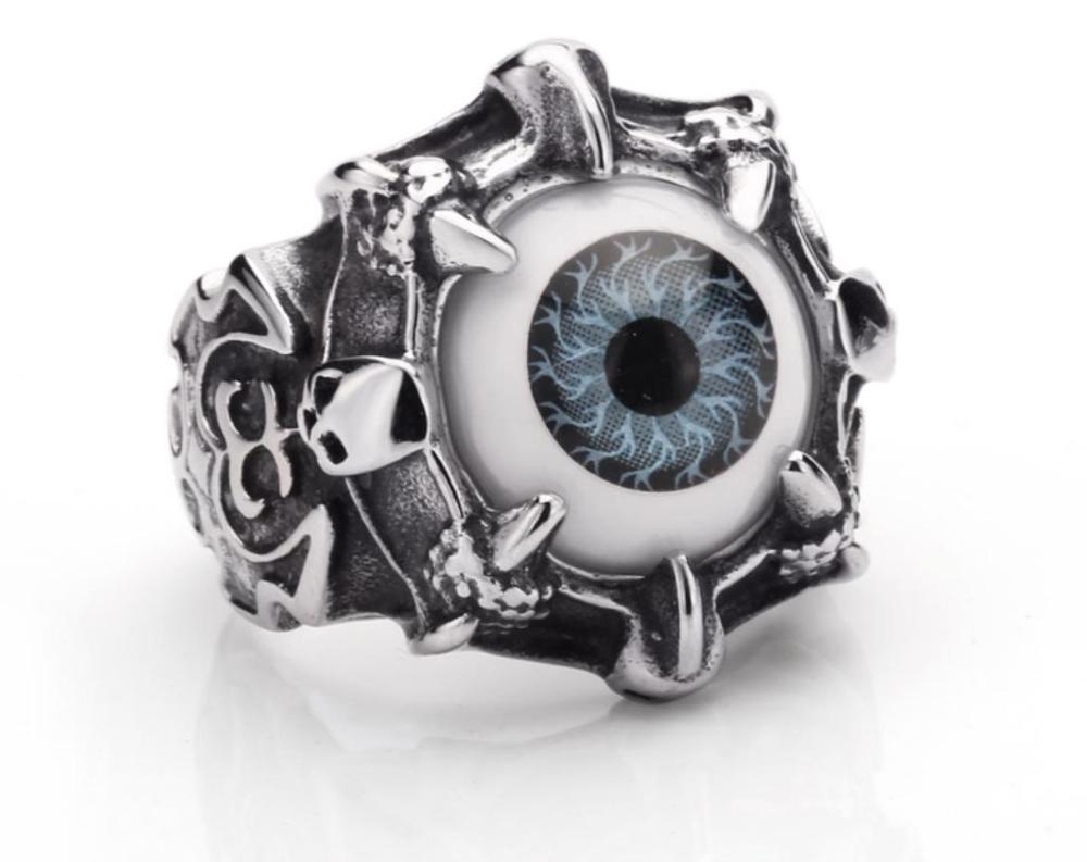 Bague Gothique En Inox Avec Un Oeil