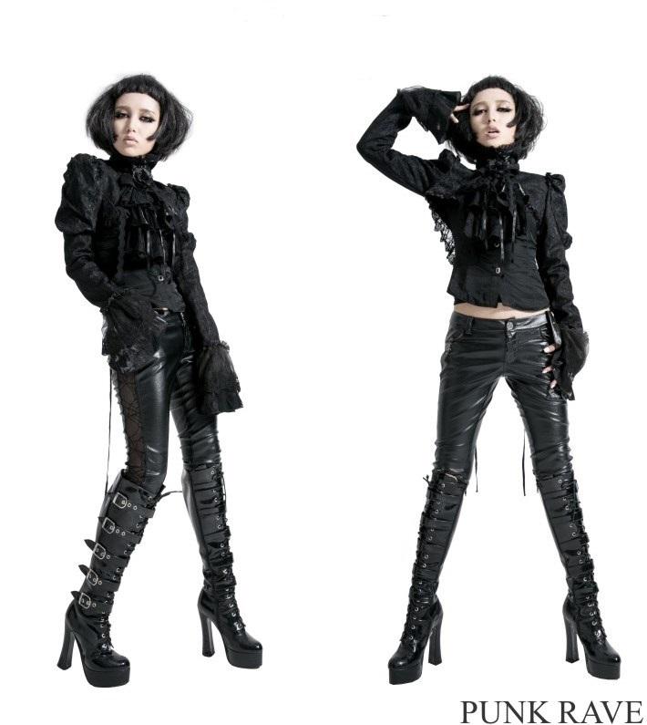 Bol ro gothique romantique noir recouvert de dentelle avec son jabot - Steampunk style vestimentaire ...