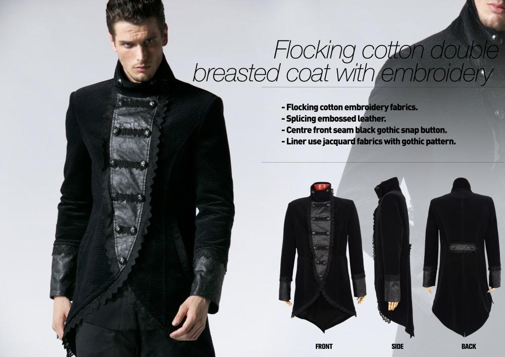 ... Photo n°3   Redingote gothique homme en velours noir ... b05c305c8e1