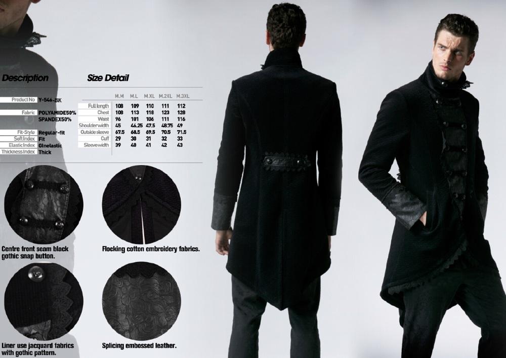 ... Photo n°4   Redingote gothique homme en velours noir ... 99fc042ed9b