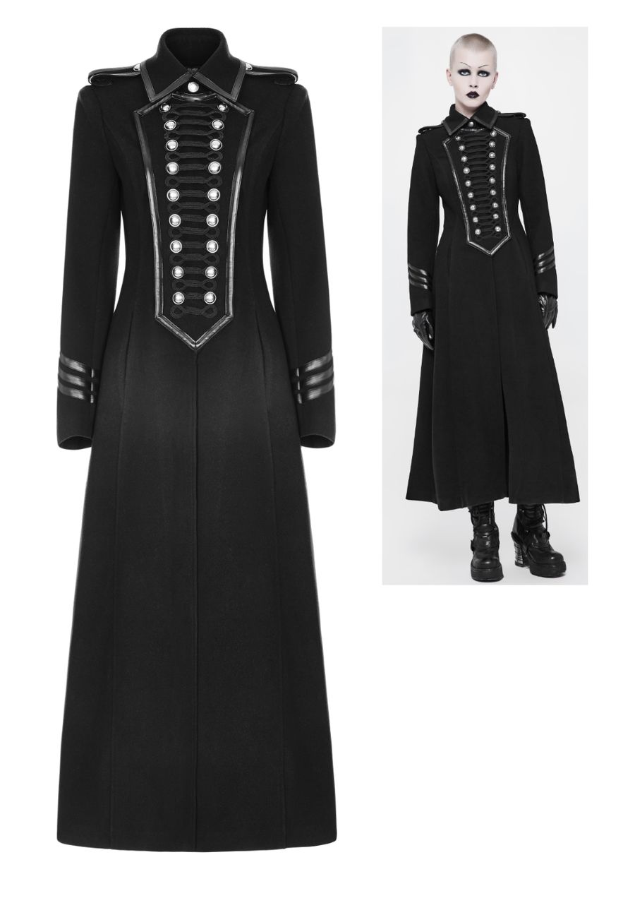 nouveau style f1c9c 4b48b Manteau femme PUNK RAVE 'military goth'