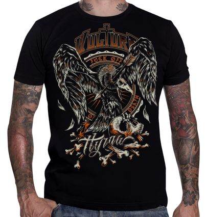 T-shirt gothique homme HYRAW 'vulture'